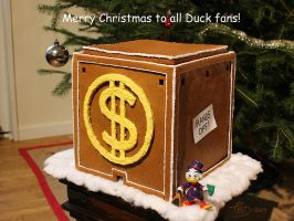 Scrooge's money bin as a gingerbread house by TedJohansson