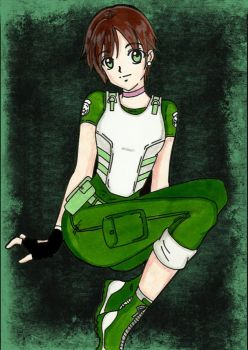 Resident Evil Remake : Rebecca Chambers by LeonandClaireBSAA
