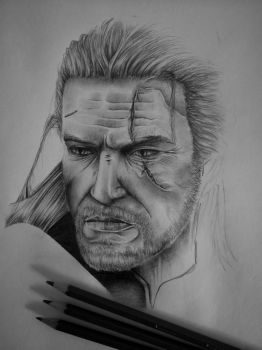 The Witcher 3: Wild Hunt A3 Sketch Poster WIP by mchorler67