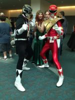 Black Ranger meet Red Ranger by EddieHolly