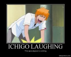 Ichigo Laughing by KuroHollowNeko