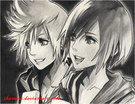 Roxas and Xion by Ikanana