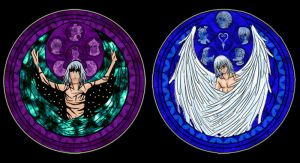Riku Theme On Stained Glass by cassiescreations