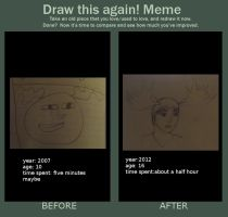 draw this again (meme) by selftaughtartist1