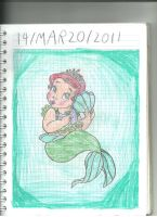 Baby princess Ariel by sebasmermaid