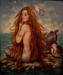 Mermaid...oil on linen by xxaihxx
