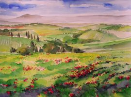 Tuscany hills - valdorcia by andreuccettiart