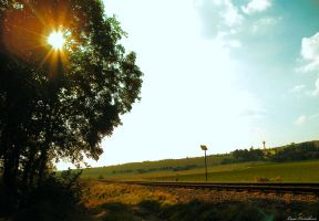 By the railway by Lucie-Lilly