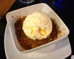 Apple Crumble with Ice Cream by nosugarjustanger