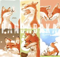 notebook cover - foxes by pandabaka