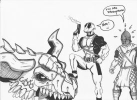 Deadpool VS Skyrim by Eldhrad