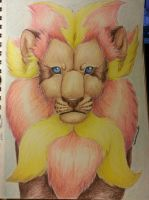 Realistic Pyroar by Mango-Cat
