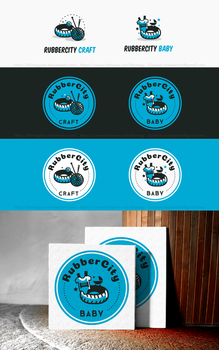 RubberCity Logo Concept III. by DianaGyms