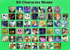 50 Character Meme by Crystalhedgie