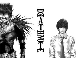 DEATH NOTE: Light and Ryuuk by kevinandy