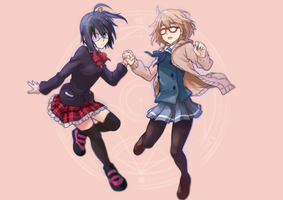 Collabs : Takanashi Rikka and Mirai Kuriyama by ClearEchoes