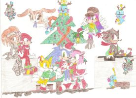 A Merry Christmas from Sonic and Friends 2011 by SunnyLunar