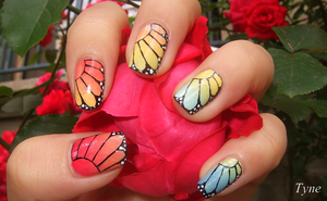 Butterfly Nails by TyneNailArt