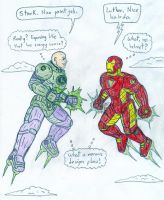 Lex Luthor vs Iron Man by Jose-Ramiro