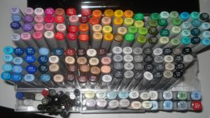 Art supplies and Copic Markers by Kibame