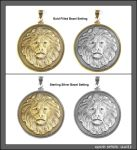 Great Spirit Lion Coin in Precious Metal Settings by GoodSpiritWolf