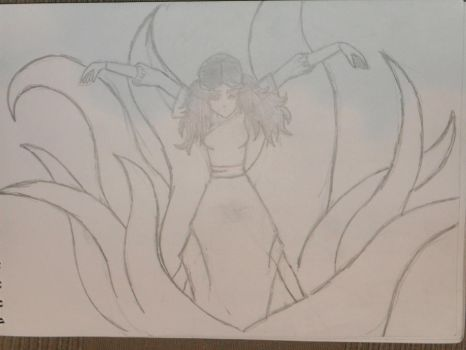 Katara fighting uncoloured by nientjeuh