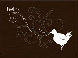 random hello chicken wall by pepper-tea