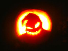 Oogie Boogie Jack-O-Lantern by pink-anthony