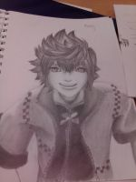 KH: Roxas (In Progress3) by KyteLeonhart