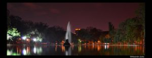 Lake with a fountain by RavenNightWish
