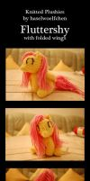Knitted Plushies - Fluttershy - Folded Wings by haselwoelfchen