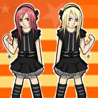 Kairi and Namine Halloween by pokeibuni