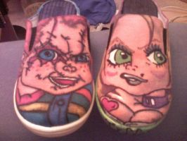 Chucky and Tiff shoes by muddysneakers23