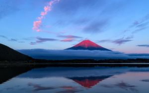 Japan Dawn Mont Fuji 1920x1200 by ElKaez
