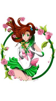 Sailor Jupiter Digital Color by Xaendreth