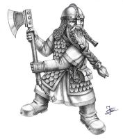 Dwarf warrior by Goramitrio