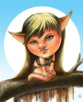 Wood Elf by Mixaoops
