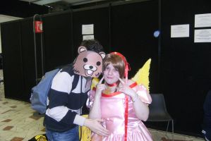 Pedo Bear loves Sakura by ayumicosplay