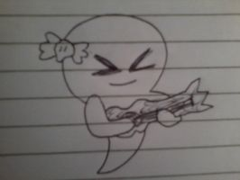 Carrie playing the guitar by MigsGarcia5127