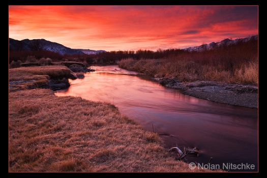 The Owens River Sunrise by narmansk8
