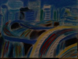 Tokyo Chalk Drawing by proven55