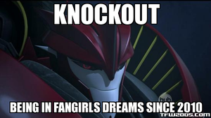 Knockout and his fangirls by Blurr19