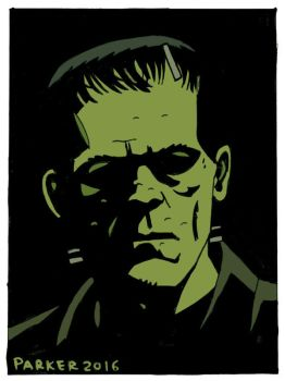 FRANKENSTEIN'S MONSTER INKTOBER COLOURED by future-parker