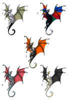 100 Themes - Fae Dragon Adopts - Adopted by Feralx1