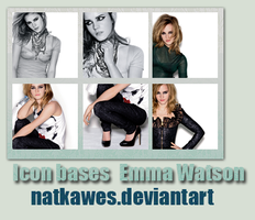 Icon bases - Emma Watson by Natkawes