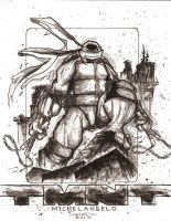 TMNT Mike Ink Wash by RobDuenas