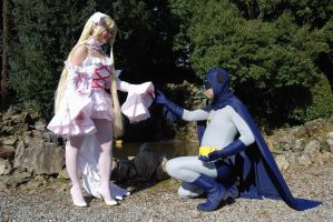 Batman and Chii cosplay by Sandman-AC