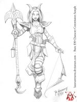 Sample $30 Character Drawing by LazarusReturns