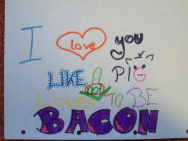 pig and bacon by crazzyKatie