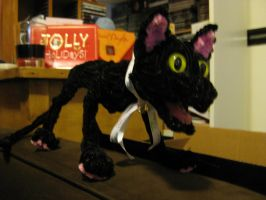 Pipecleaner Black Cat by DarkSaberCat